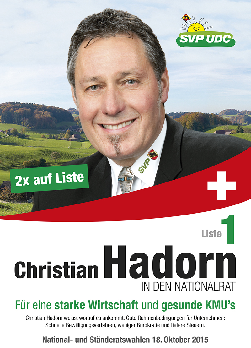 Christian Hadorn IN DEN NATIONALRAT 2015